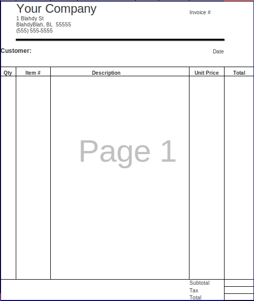 FossFolks Small Business Invoice Spreadsheet – Free Business Invoices