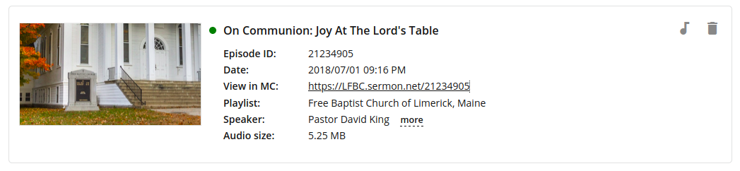 sermon.net number used for displaying content on a wordpress church site
